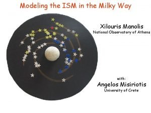 Modeling the ISM in the Milky Way Xilouris