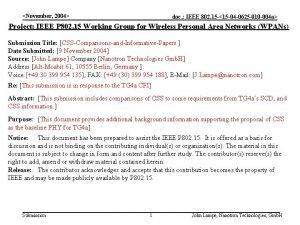 November 2004 doc IEEE 802 15 15 04