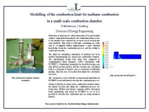 Modelling of the combustion limit for methane combustion