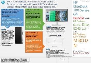 HP Elite Desk 700 Series G 4 Bundle
