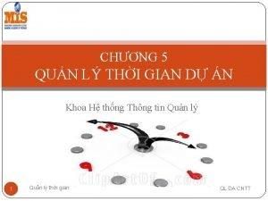 CHNG 5 QUN L THI GIAN D N