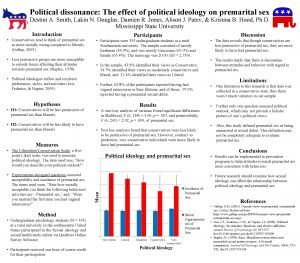 Political dissonance The effect of political ideology on
