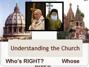 Understanding the Church Whos RIGHT Whose The Direction