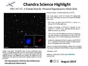 Chandra Science Highlight PSO 167 13 A Distant