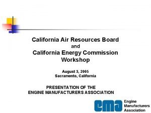 California Air Resources Board and California Energy Commission