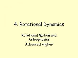 4 Rotational Dynamics Rotational Motion and Astrophysics Advanced