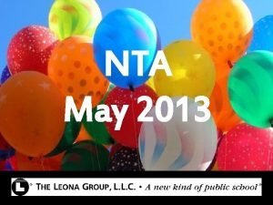 NTA May 2013 Bell Ringer Complete the reflection