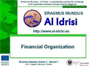 Erasmus Mundus Al Idrisi A scholarship scheme for