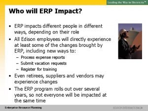 SM Who will ERP Impact ERP impacts different
