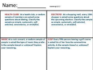 Name HEALTH CLUBS At a heath club a