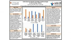 Autism Spectrum Disorder knowledge variation and gaps in