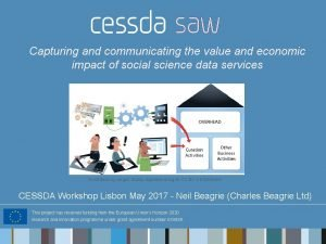 Capturing and communicating the value and economic impact