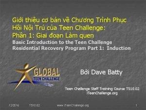 Gii thiu c bn v Chng Trnh Phc