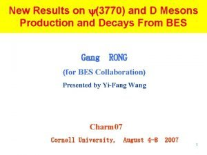 New Results on 3770 and D Mesons Production