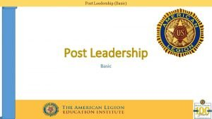Post Leadership Basic Post Leadership Basic Post Leadership