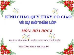 KNH CHO QU THY C GIO MN HA