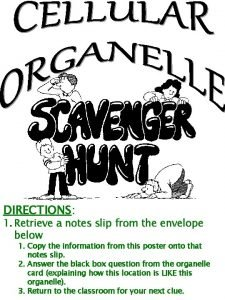 DIRECTIONS 1 Retrieve a notes slip from the