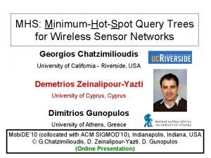 MHS MinimumHotSpot Query Trees for Wireless Sensor Networks
