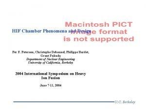 HIF Chamber Phenomena and Design Per F Peterson