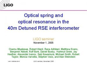 Optical spring and optical resonance in the 40
