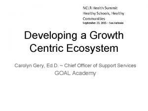 NCLR Health Summit Healthy Schools Healthy Communities September