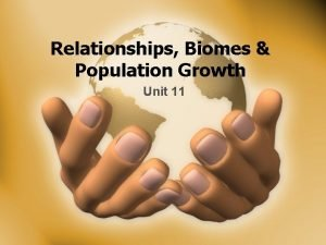 Relationships Biomes Population Growth Unit 11 Relationships What