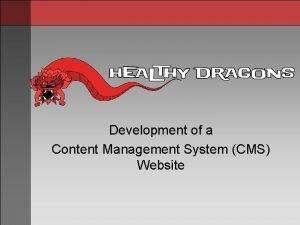 Development of a Content Management System CMS Website