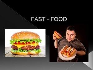 FAST FOOD Co to jest FAST FOOD Jest