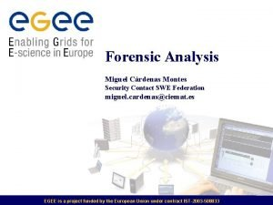 Forensic Analysis Miguel Crdenas Montes Security Contact SWE