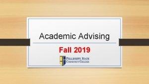 Academic Advising Fall 2019 University Parallel Core Curriculum