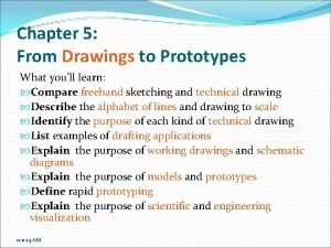 Chapter 5 From Drawings to Prototypes What youll