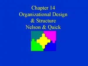 Chapter 14 Organizational Design Structure Nelson Quick Organizational