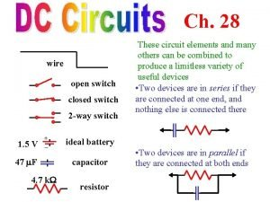 Ch 28 wire open switch closed switch 2