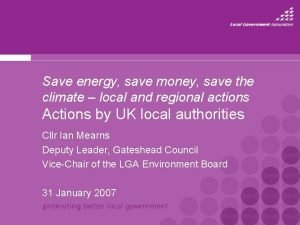 Save energy save money save the climate local