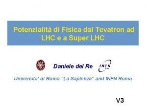 Potenzialit di Fisica dal Tevatron ad LHC e