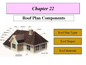 Chapter 22 Roof Plan Components Roof Plan Types