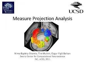 Measure Projection Analysis Nima BigdelyShamlo Tim Mullen Ozgur
