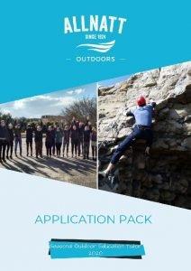 APPLICATION PACK Seasonal Outdoor Education Tutor 2020 APPLICATION