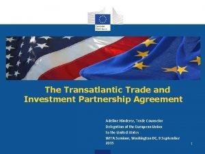 The Transatlantic Trade and Investment Partnership Agreement Adeline