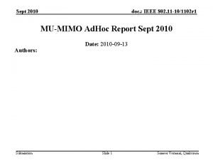 Sept 2010 doc IEEE 802 11 101102 r