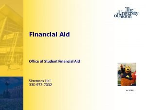 Financial Aid Office of Student Financial Aid Simmons