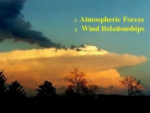 Atmospheric Forces b Wind Relationships Atmospheric Forces b