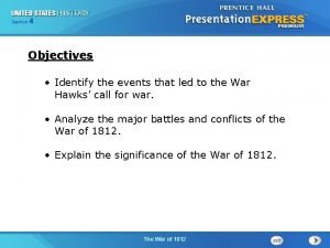 425 Section Chapter Section 1 Objectives Identify the