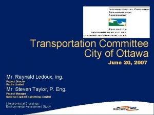 Transportation Committee City of Ottawa June 20 2007