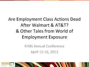 Are Employment Class Actions Dead After Walmart ATT