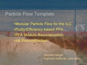 Particle Flow Template Modular Particle Flow for the