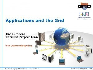 Applications and the Grid The European Data Grid