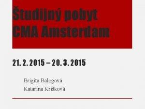 tudijn pobyt CMA Amsterdam 21 2 2015 20