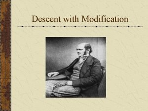 Descent with Modification History of Evolution Plato 427