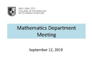 NEW YORK CITY COLLEGE OF TECHNOLOGY THE CITY